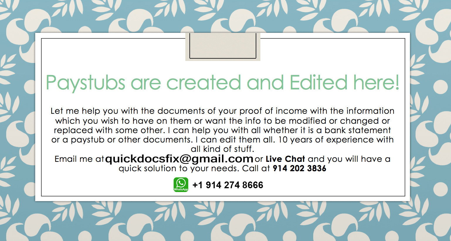 Pay Stubs Editing | Pay Stubs Generator | PDF PayStubs Template |